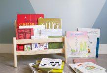 Een shelfie: een foto van een boekenrekje gevuld en omringd met prentenboeken