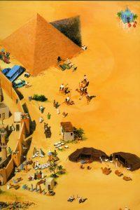 Spread of pagina van De gele ballon door illustrator Charlotte Dematons