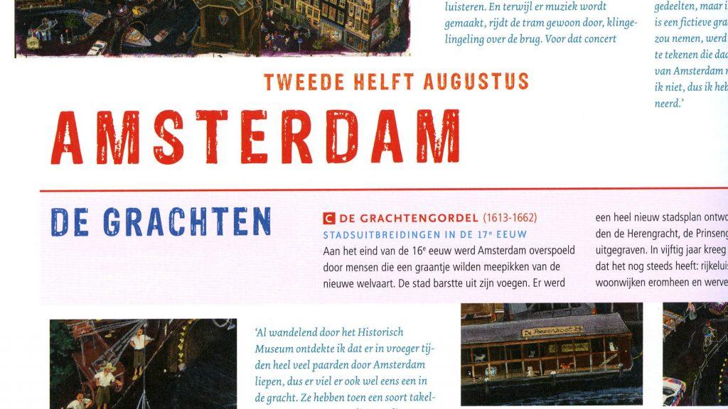 Pagina of spread uit het boek Duizend Dingen over Nederland door illustrator Charlotte Dematons en Jesse Goossens.
