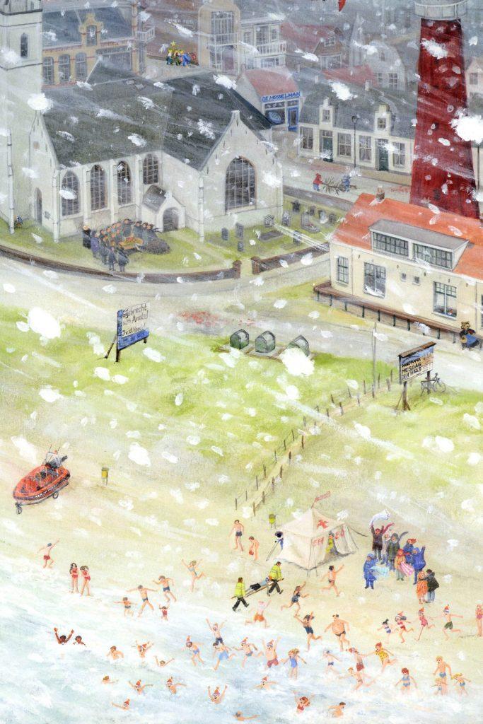 Pagina of spread uit het boek Nederland door illustrator Charlotte Dematons