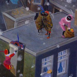 Detail van Sinterklaas door Charlotte Dematons